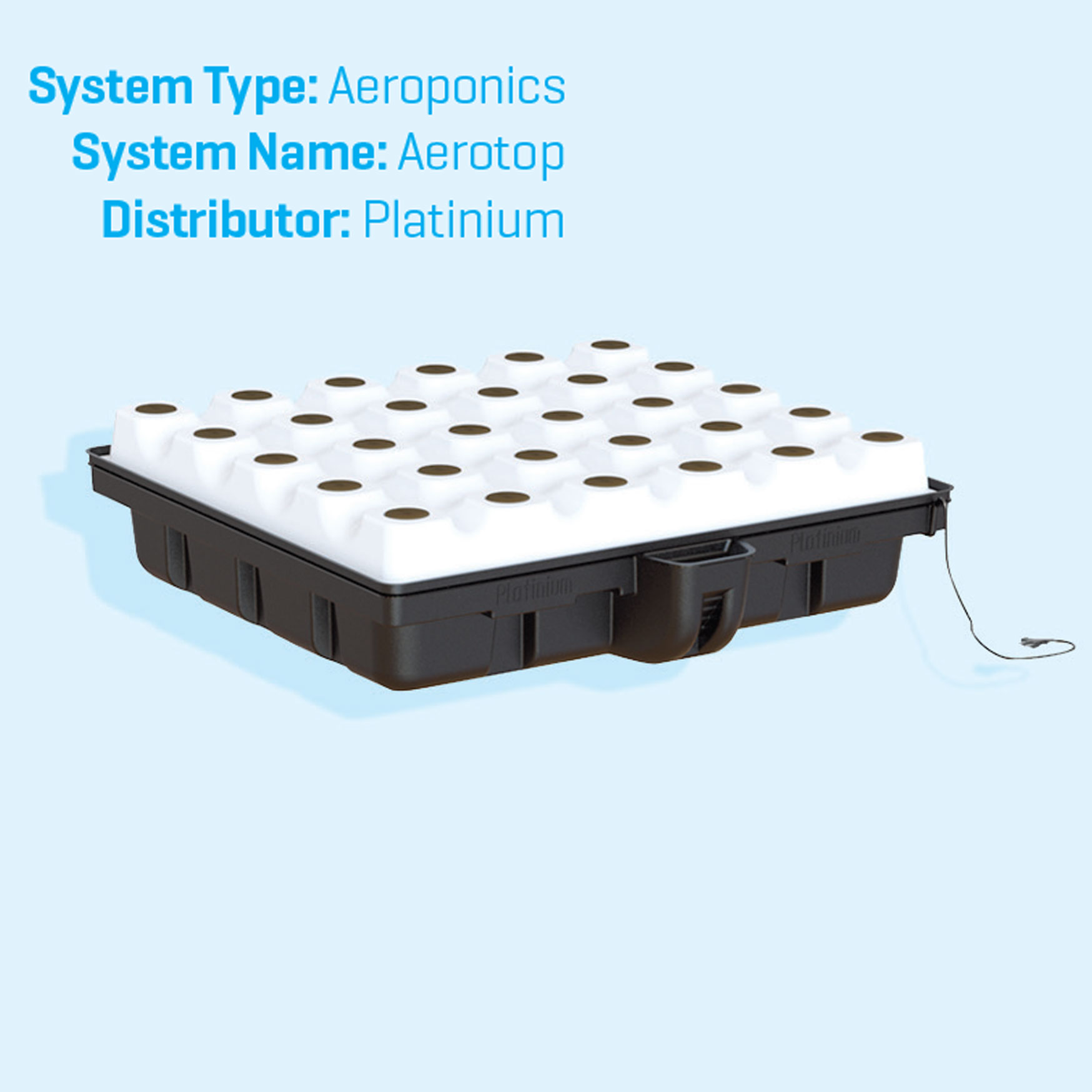 Aeroponic system (Alternative to Hydroponics)