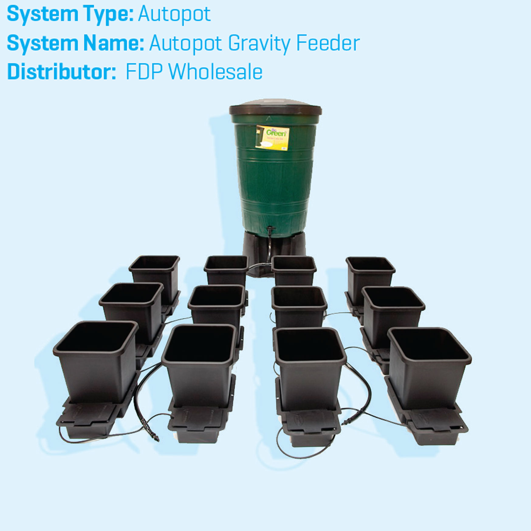 "Autopot Gravity Fed ""Automatic"" passive hydroponics systems"