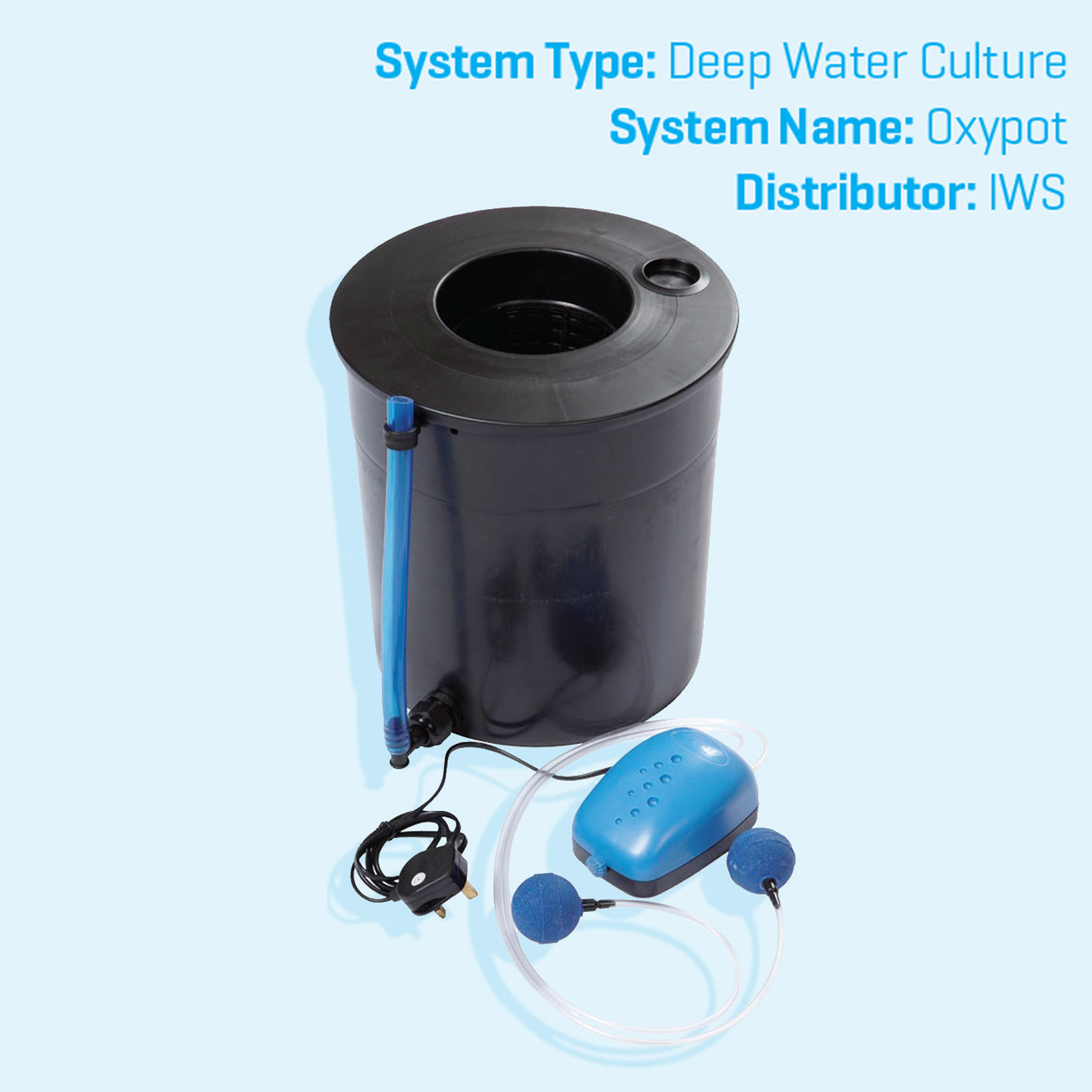 IWS DWC Single Pot Hydroponics System