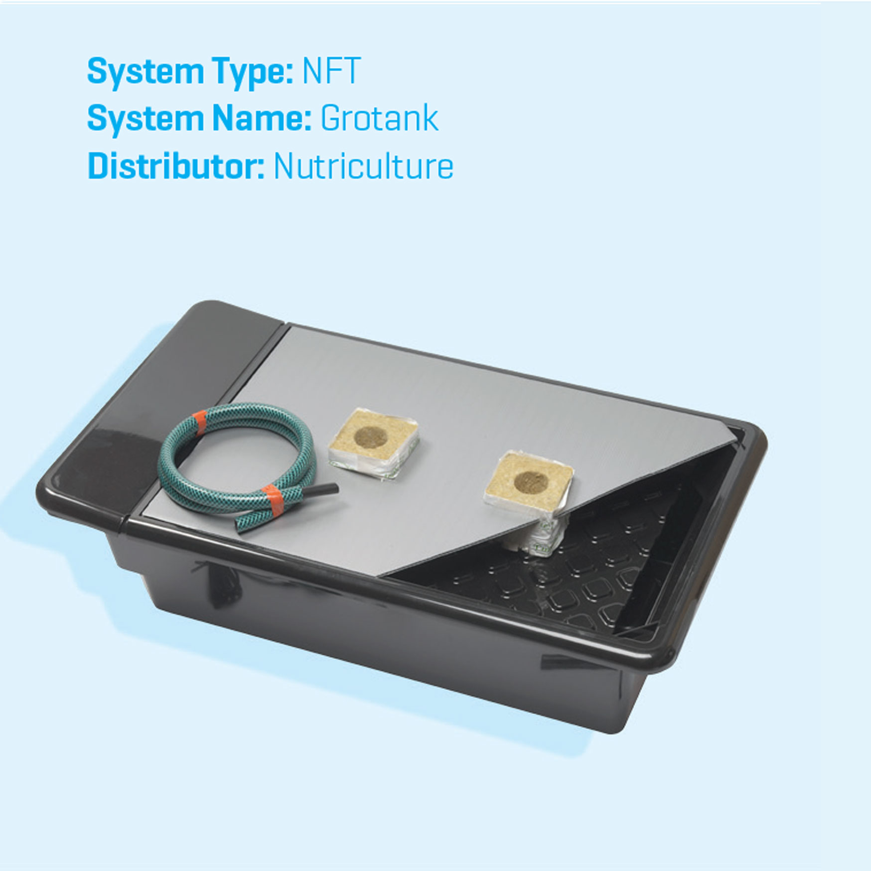 Grotank NFT (Nutrient Film technique) hydroponics systems