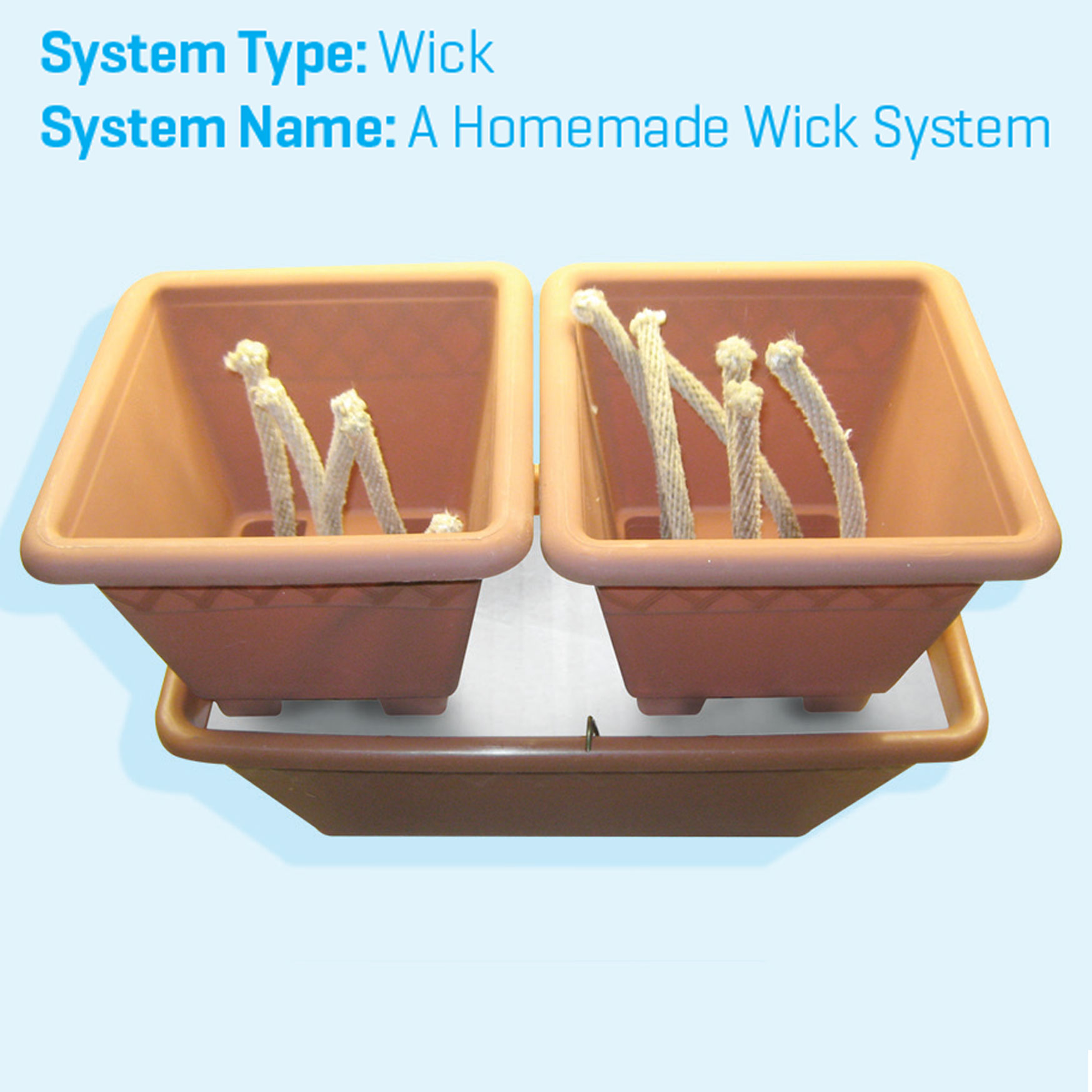 wick, wick system, hydroponics systems, growing systems, plant pots, hydromag