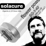 Solacure introduce Flower Power, a UV (ultraviolet) grow light for use in hydroponics and horticultural grow rooms (UVA and UVB)